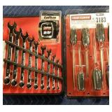 Lot (2) Craftsman Sets: 9 Pc. Combination Wrench