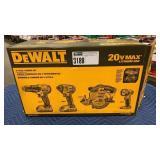 DeWalt 20V Max 4-Tool Combo Kit: Drill Driver,