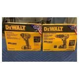 "Lot DeWalt 20V Max Drill Driver Kit & 1/4"" Impact"