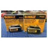 (2) DeWalt 20V Max Batteries