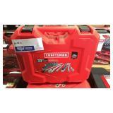 "Craftsman 33 Pc Mechanics Tool Set 1/2"" Drive SAE"