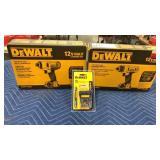 """Lot 2 DeWalt 12V Max Tools: 1/4"""" Screwdriver Kit"""