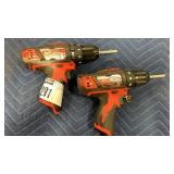 "Lot (2) Milwaukee Tools: 3/8"" Hammer Drill"