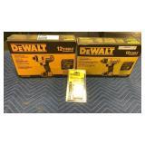 """Lot (2) DeWalt 12V Max Tools: 1/4"""" Impact Driver"""