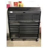 "Black Husky Rolling 52"" 15-Drawer Tool Chest &"