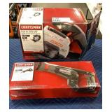 "Lot (2) 19.2V Craftsman Tools: 5 1/2"" Trim Saw"