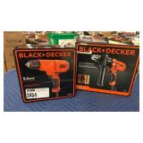 "Lot 2 Black & Decker 3/8"" Drill Driver & 1/2"""