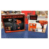 "Lot 2 Black & Decker Corded Tools:  1/2"" Drill"