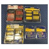 Lot 5 Irwin & Craftsman Bit Sets