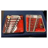 Lot 2 Craftsman 9-pc Combination Wrench Sets, SAE
