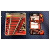 Lot 2 8-pc Craftsman Ratcheting Wrench Sets, SAE &