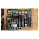 Lot 6 Craftsman Socket & Wrench Sets:(4) 9-pc 3/8""