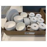 Lot Asst White China: Saucers, Bowls, Coffee Mugs