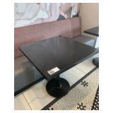 "Black Faux Granite Sq. Dining Table, 30"" x 30"""