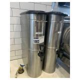2 Stainless Grindmaster Cold Beverage Transports