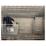 Lot Acrylic Measurement & Storage Bins w/ Some Lid