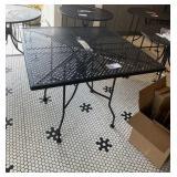 """Sq. Metal Black Patio Table, 36"""" x 36"""""""