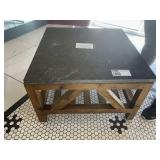 Wood & Faux Granite Top Coffee Table,