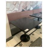 "Black Faux Granite ResinSq. Dining Table 30"" x30"""