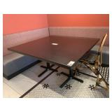 "Black Faux Granite Resin Sq. Dining Table 54"" x54"""