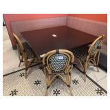 3 Bamboo Style & Faux Rattan Dining Chairs