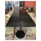 """Black Faux Granite Resin Bar Table, 36"""" x 120"""""""
