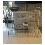White Wire Organizational Rack w/ Asst. Baskets
