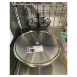 Lot Stainless Cake Stand w/ Extra Tops & Black