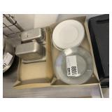 Lot 2 Flats: Stainless Steel Inserts, Asst. Plates