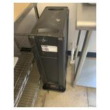 Rubbermaid Black Rect. Trash Can