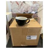 Lot Box Black Asst. Sized Cappucino Cups