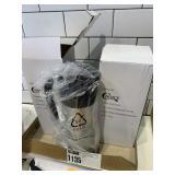 2 New Stainless & Black Creamer Dispensers
