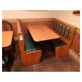 1 Section Oak Framed Booth Seats * No Table *