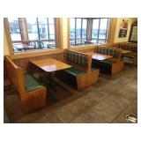 3 Sections Oak Framed Booth Seats *No Tables*