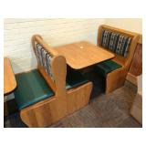 3 Sections Oak Frame 2-Top Booth Seats *No Tables*