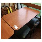 """28"""" x 46"""" Rect. 4-Top Table w/ Cherry Field"""