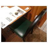 2 Classico Black Metal Frame Fan High Back Chairs