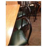 6 Classico Black Metal Frame Fan High Back Chairs
