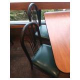 4 Classico Black Metal Frame Fan High Back Chairs