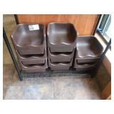 Lot 8 Brown Resin Booster Seats