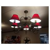 2 5-Light Texas Star Wrought Iron Chandeliers