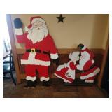 Lot 2 Santa Claus Wood Cutouts