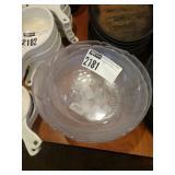 Lot 4 Plastic Salad Bowls