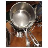 5 Asst Stainless Steel Pots & Pans