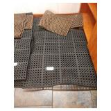 Lot 7 Black Non-Slip Cushion Floor Pads