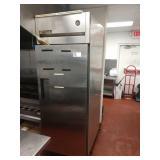 True SS Sgl Door Refrigerator on Wheels