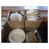 3 Cases Asst White China, Soup & Salad Bowls