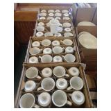 4 Cases White World Coffee Mugs, Approx 140