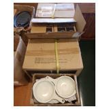 3.5 Cases Ironstone Soup Bowls w/ Handles,