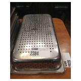 """Lot 3 S.S. 4"""" Perforated Full Pans"""